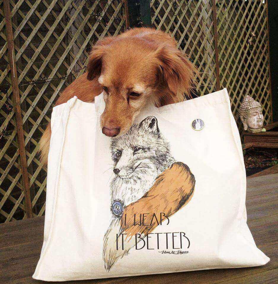 I wear It Better 'Anti Fur' Canvas Diana Shopper. 43cm  x 37cm with a 10cm gusset