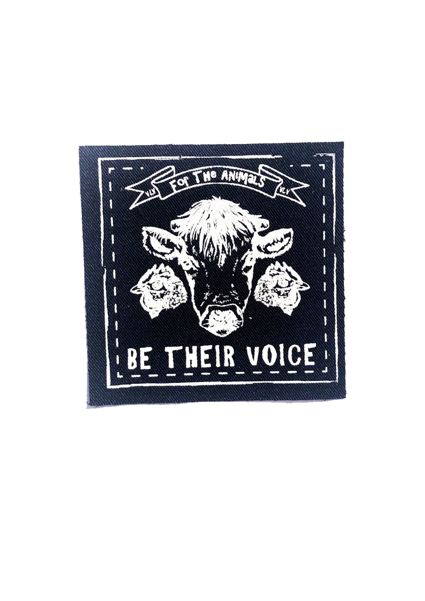 Printed Patch Square - Be Their Voice by eco ethical brand Viva La Vegan