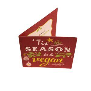 Christmas Greetings Card: Tis The Season Xmas Card (Red)