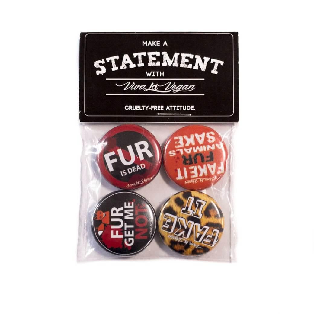 Badge Pack  x 4: Anti Fur Set