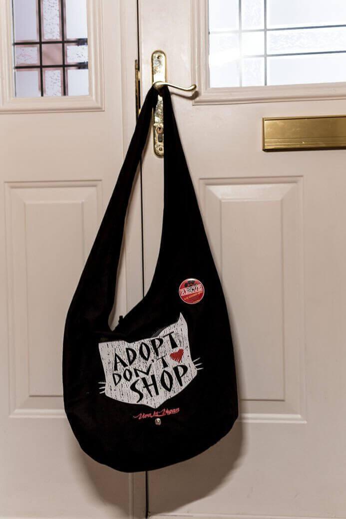 Adopt Don't Shop -  Organic Cotton Thai Monk Moon Bag: 53 x 38cm