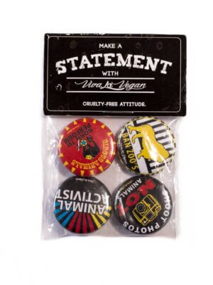 Badge Pack x 4 Set: Mixed Animal Activist