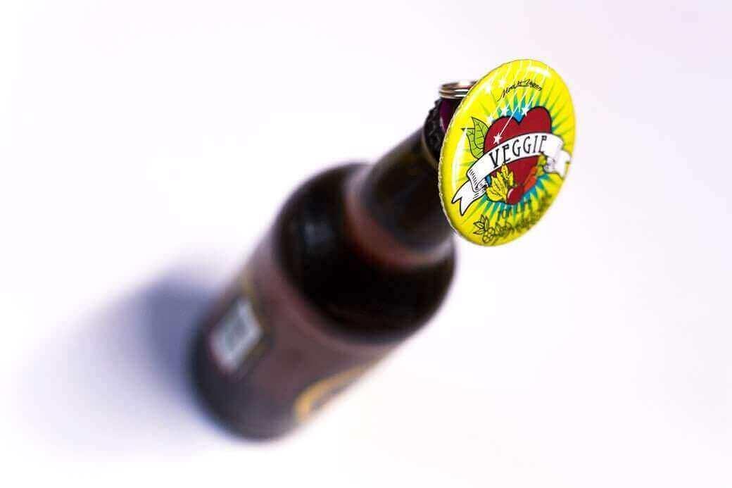 Bottle Opener Keyring : Veggie Tattoo