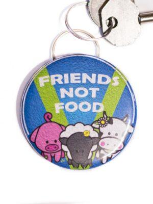 Bottle Opener Keyring : Friends Not Food