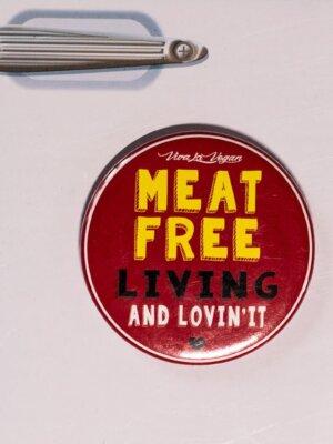 Fridge Magnet: Meat Free & Lovin' It