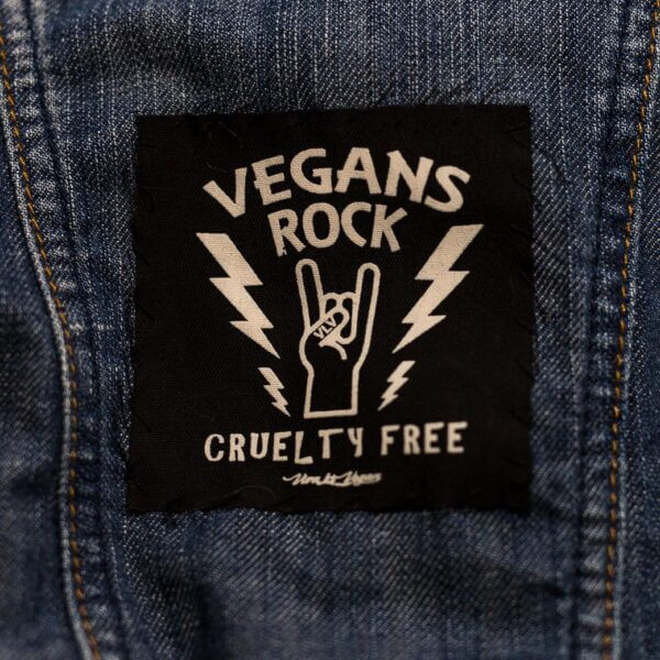 Printed Patch Square - Vegans Rock!