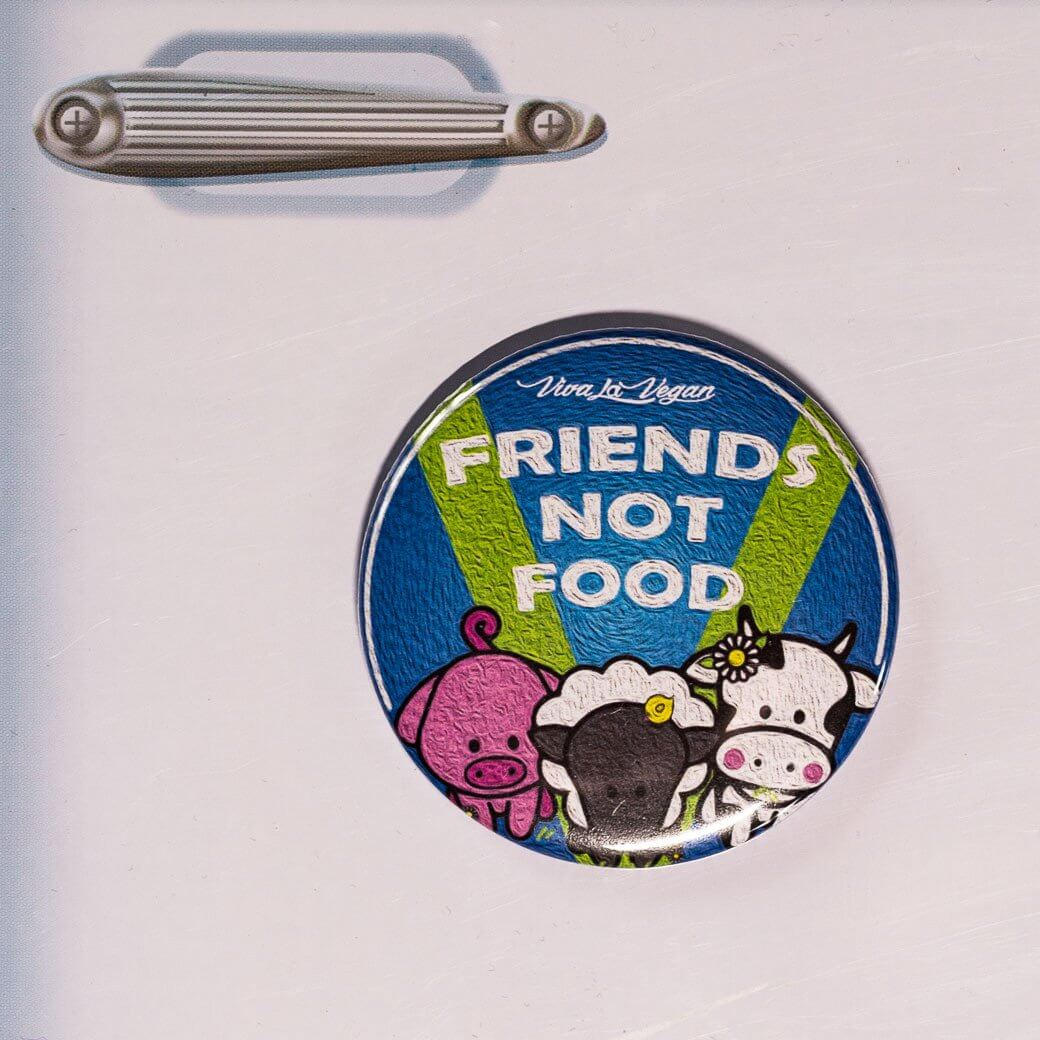 Fridge Magnet: Friends Not Food