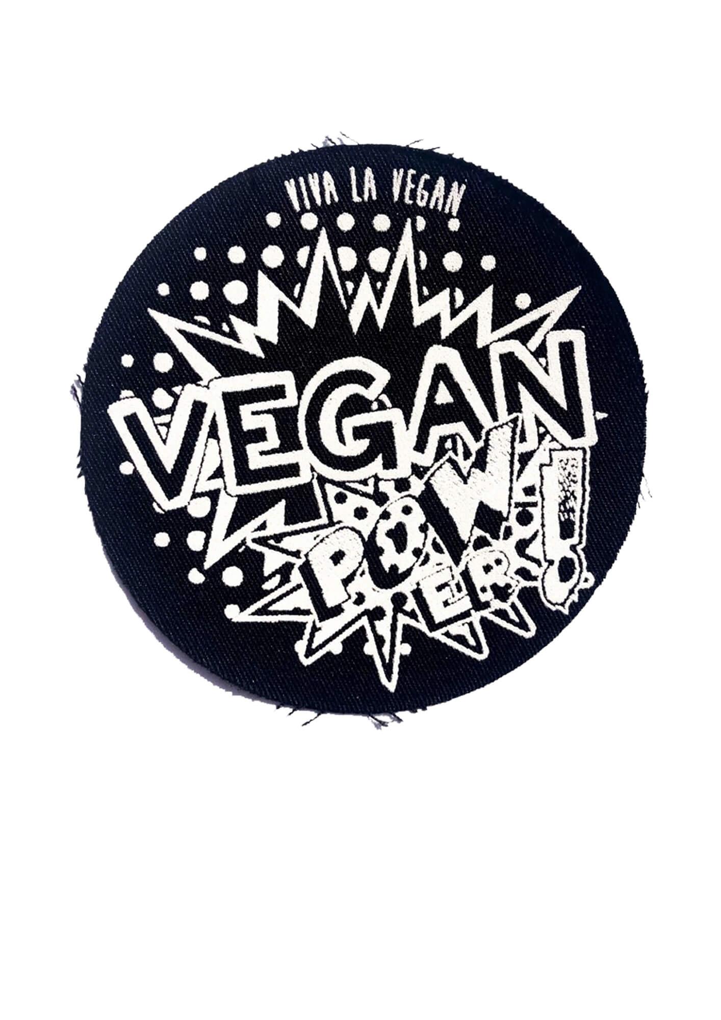 Printed Patch Round - Vegan POWer by eco ethical brand Viva La Vegan