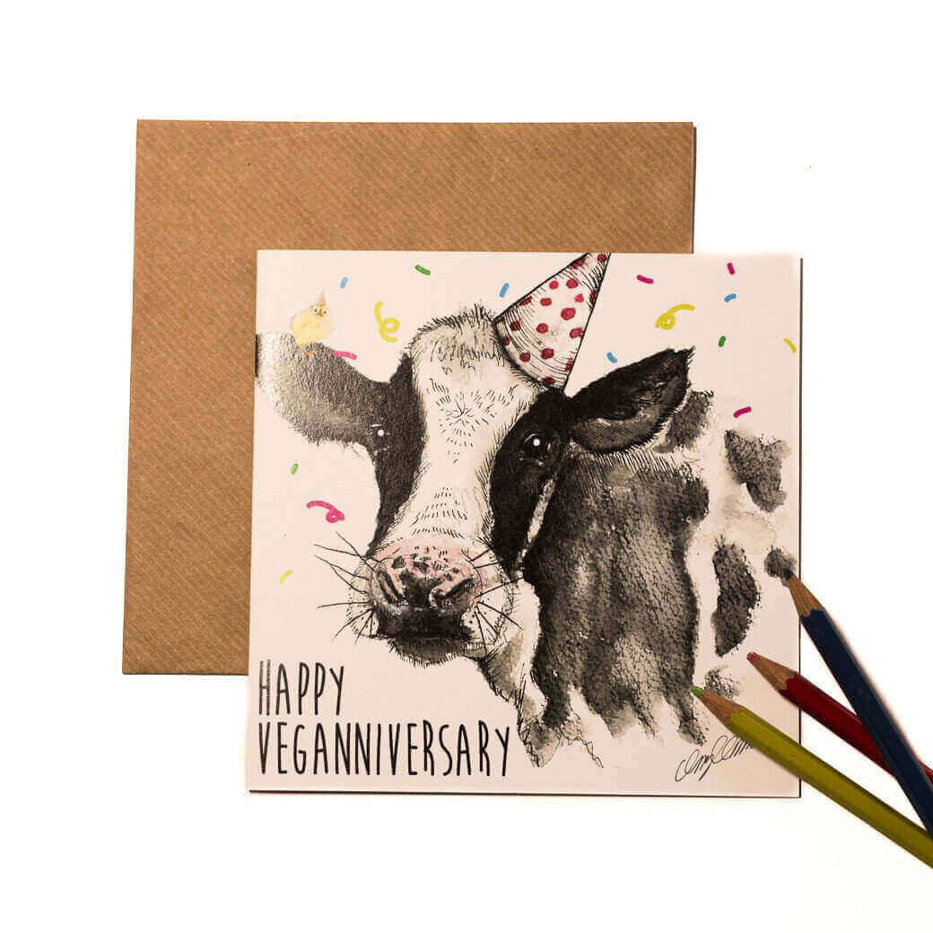 Greetings Card: Veganniversary - Daisy