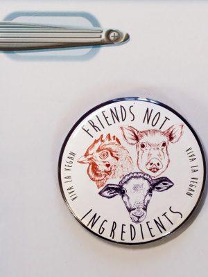 Fridge Magnet: Friends NOT Ingredients