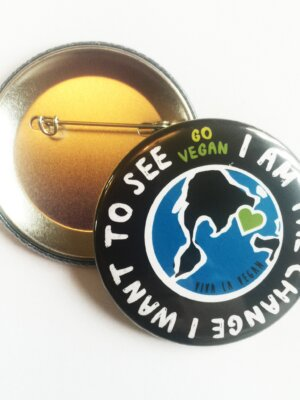 58 mm Statement Badge: I Am The Change I want To See