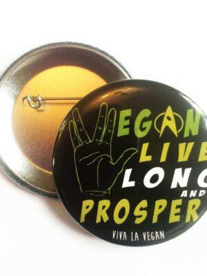 58mm Statement Badge: Live Long and Prosper