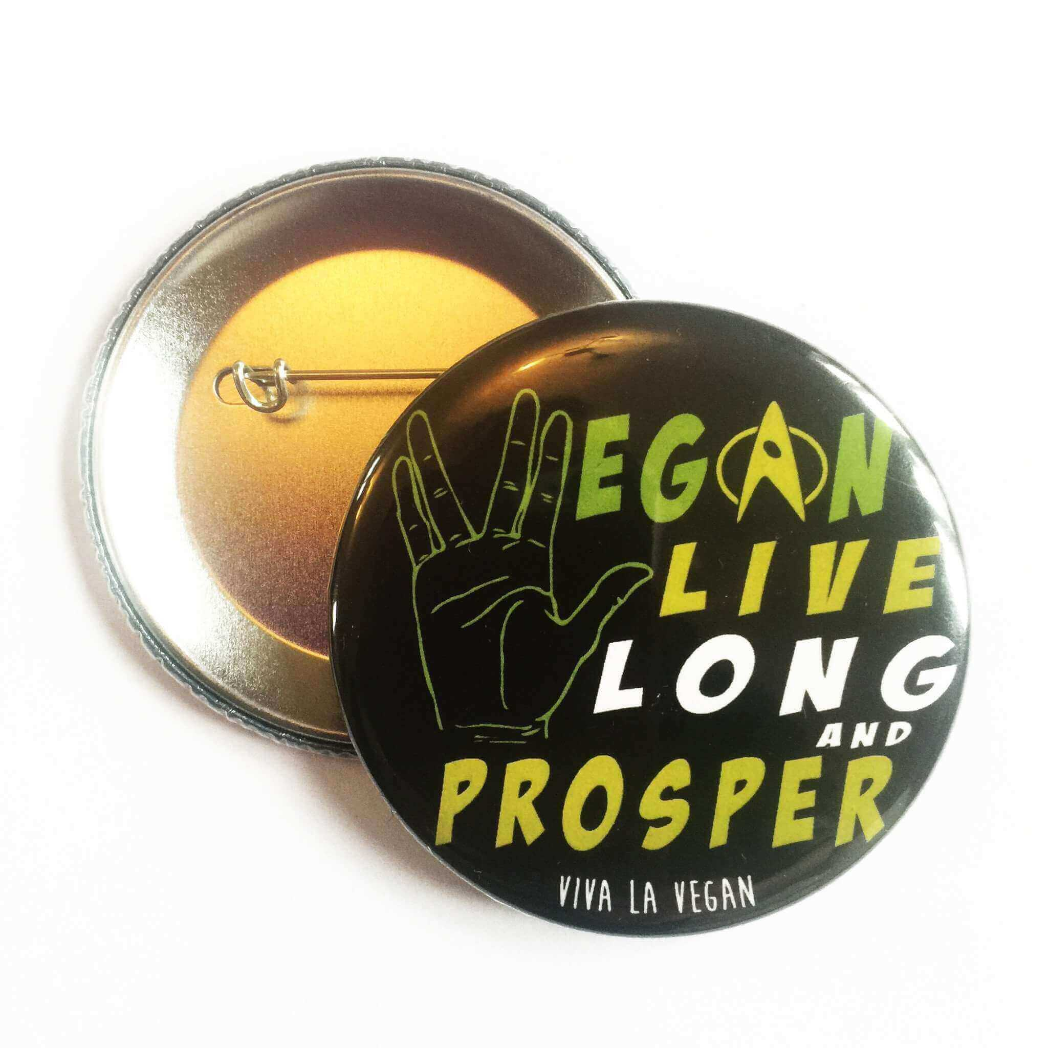 58mm Statement Badge: Live Long and Prosper