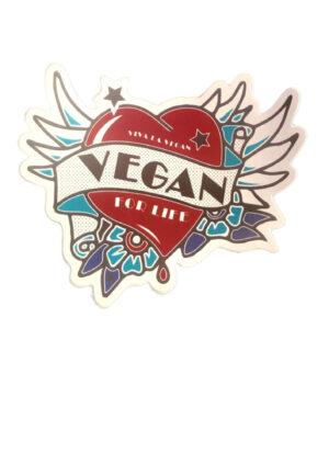 Vegan sticker 'Vegan for life' by eco ethical brand Viva La Vegan