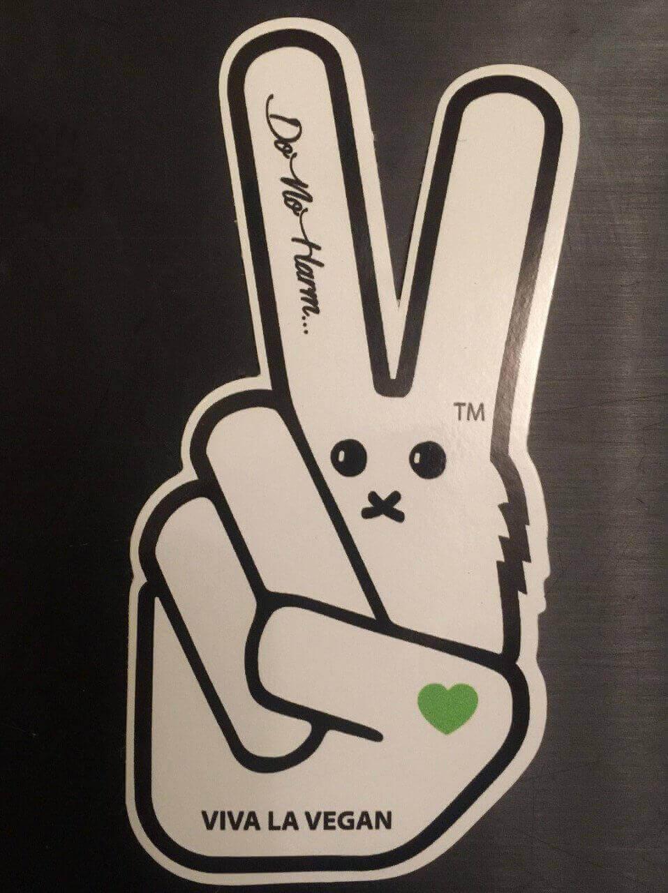 Vinyl Vegan Sticker - VLV Signature Finger Bunny