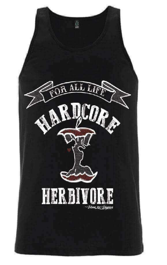 Unisex Vest : Hardcore Herbivore