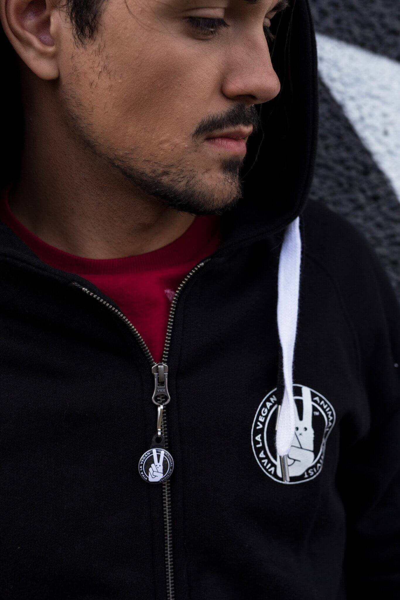 UNISEX Zip Through Hoodie : Circus Of Suffering. Exploitation Not Entertainment