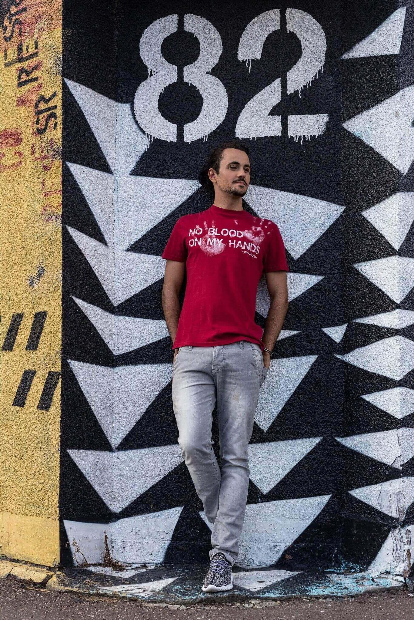 Unisex Vegan Tshirt : No Blood On My Hands