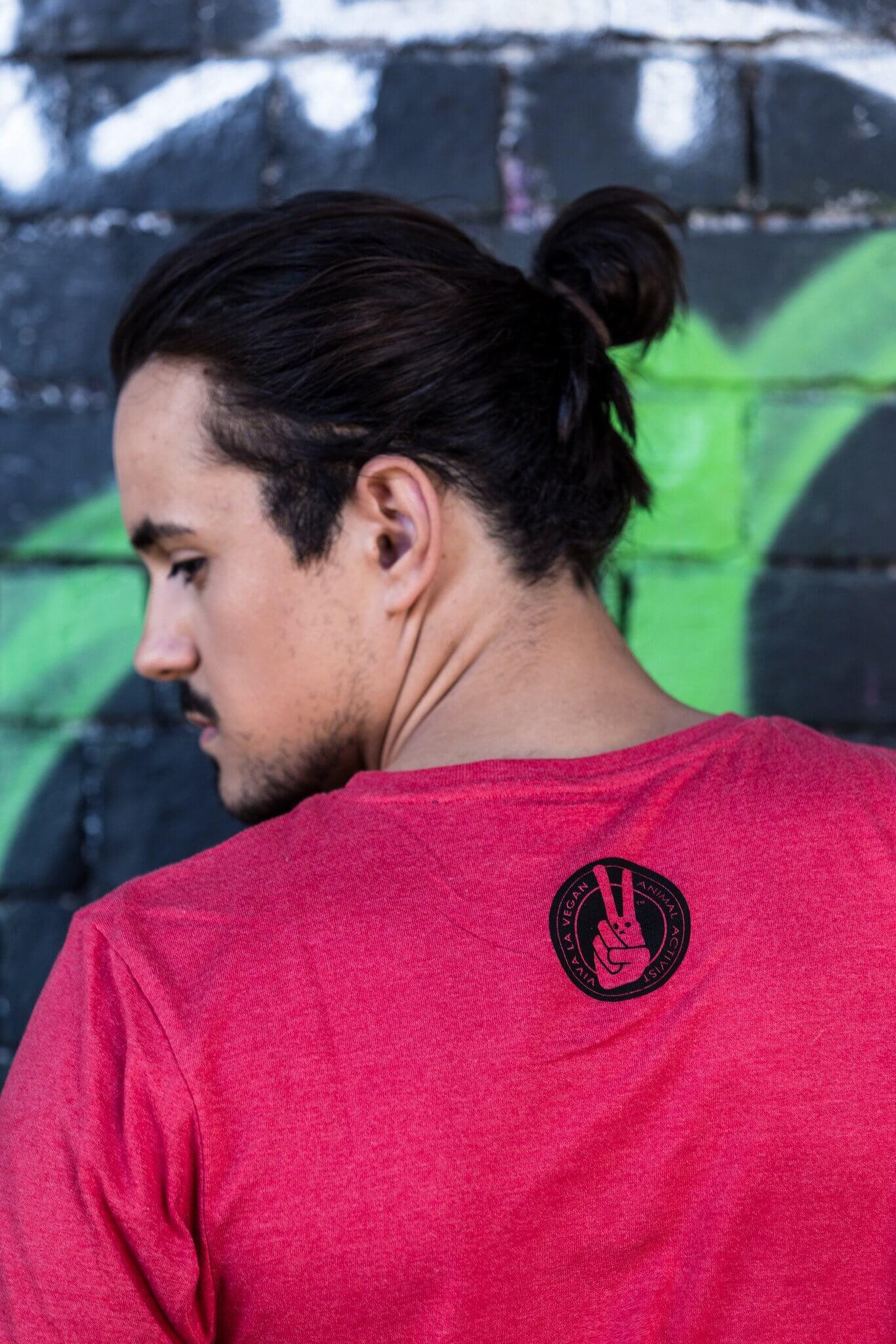 Unisex Tshirt : Zombies Eat Flesh - Go Vegan