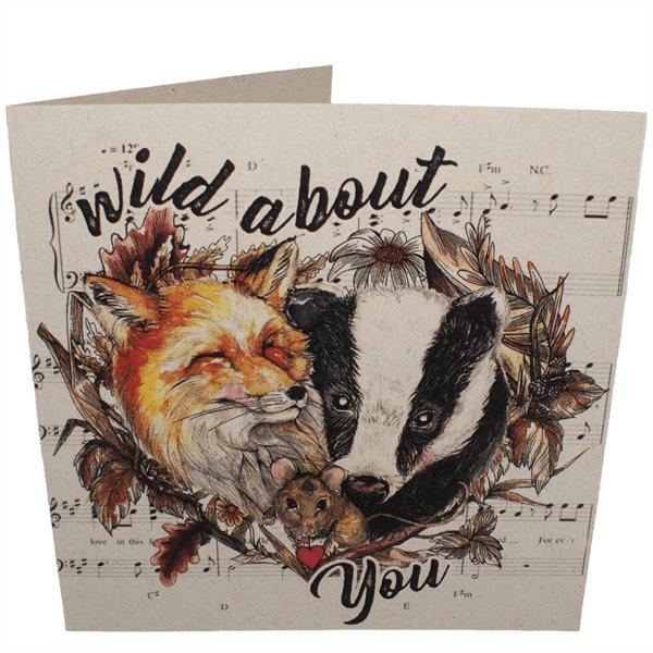 vegan card wild about you
