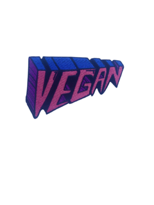 Vegan iron-on embroidered patch