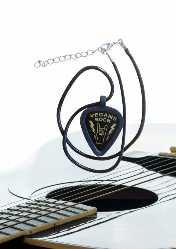 Vegan Plectrum necklace holder by eco-ethical brand Viva La Vegan