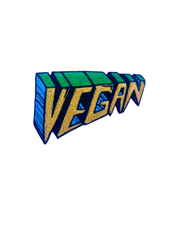 Embroidered Patch - VEGAN perspective Gold
