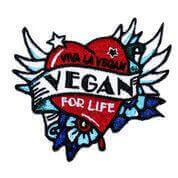 Vegan For Life Embroidered Patch
