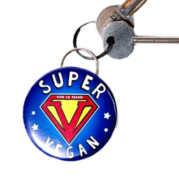 Bottle Opener Keyring : Super Vegan