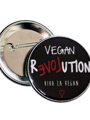 58mm Statement Badge: Vegan Revolution
