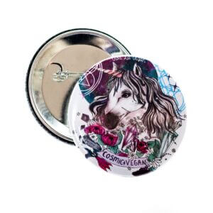 58 mm Statement Badge: Cosmic Vegan