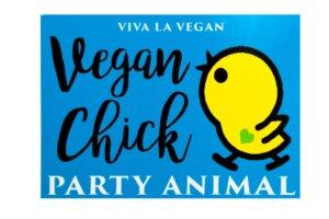 Window Cling - Vegan Chick 10 x 7 cm