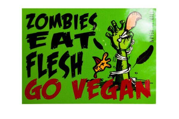 Window Sticker- Zombies Eat Flesh 10 x 7 cm