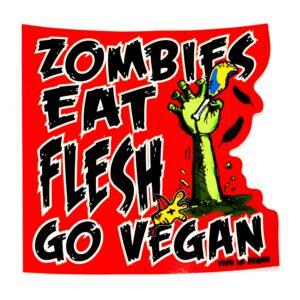 Vinyl Vegan Sticker - Zombies Eat Flesh