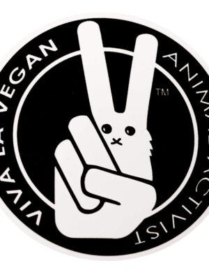 Vinyl Vegan Sticker - VLV Animal Activist