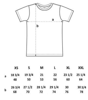 unisex tshirt spec
