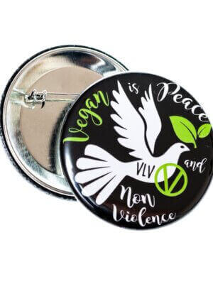 58mm Badge: Vegan Is Peace