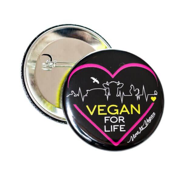 58mm Badge: Vegan For Life