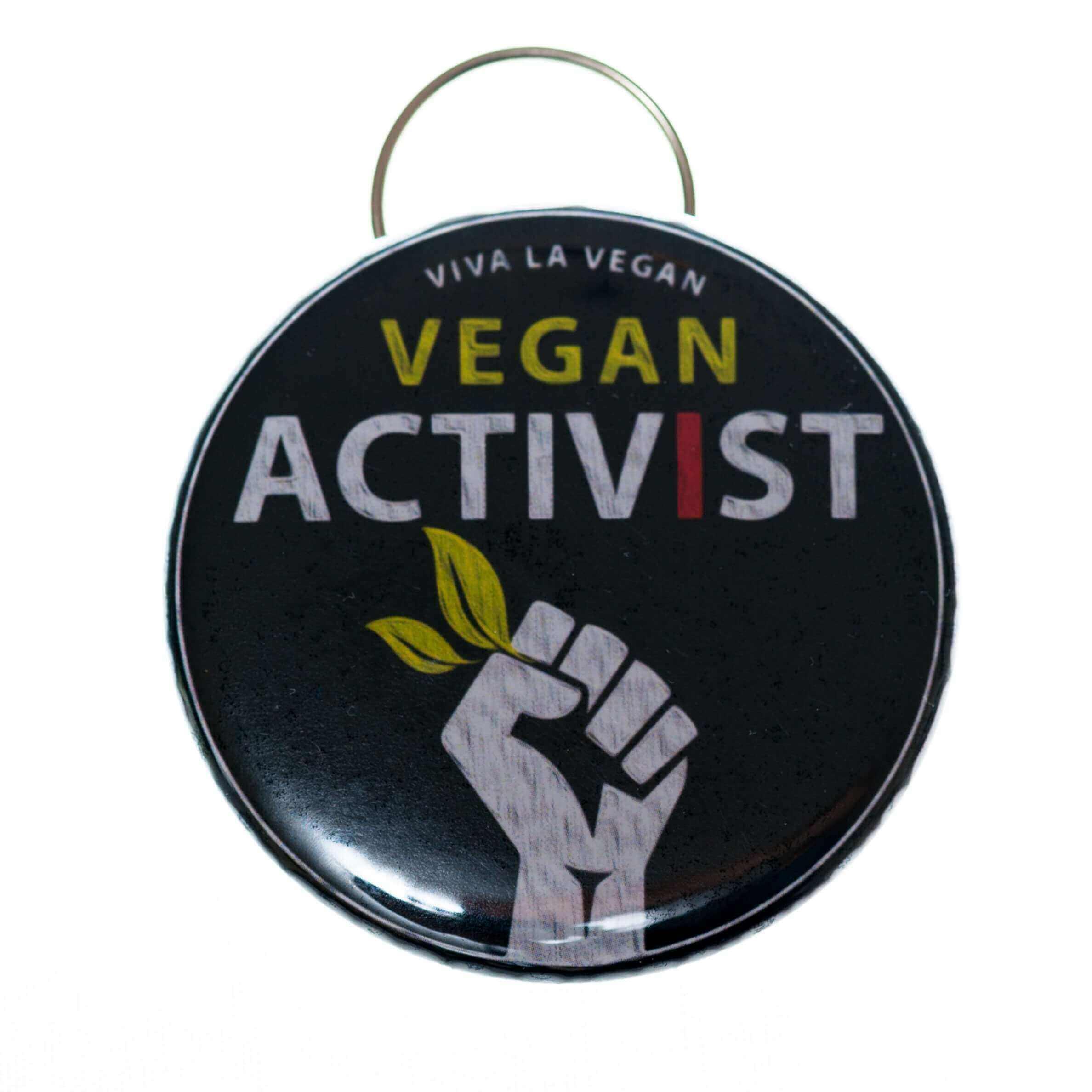 Bottle Opener Keyring : Vegan Activist