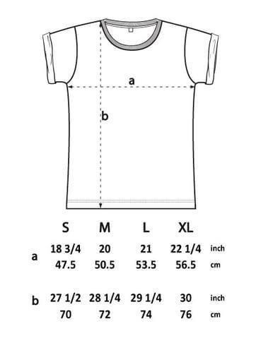 means t shirt spec