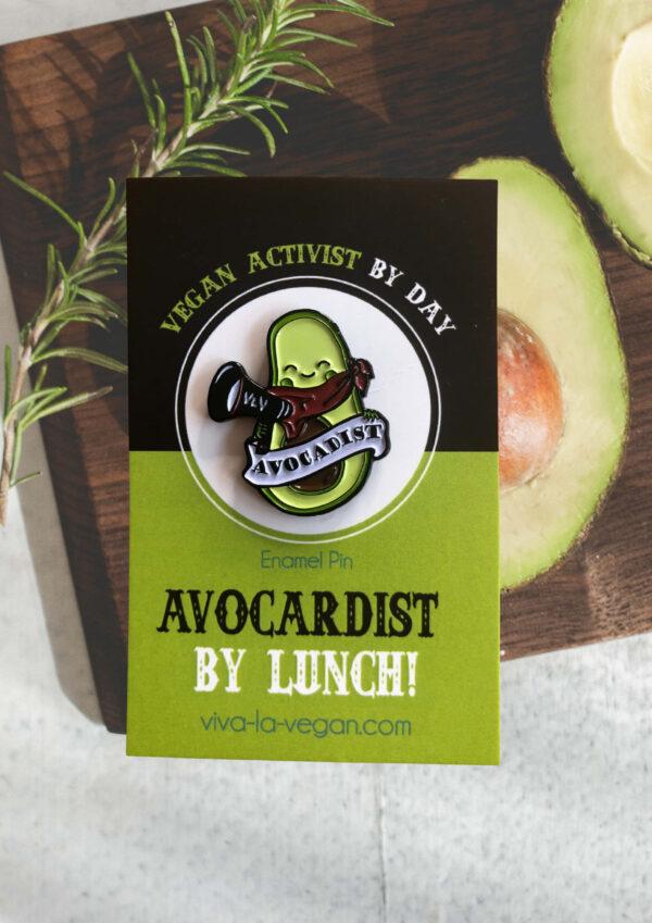 28mm Statement Enamel Pin: Avocadist by Eco ethical brand Viva La Vegan