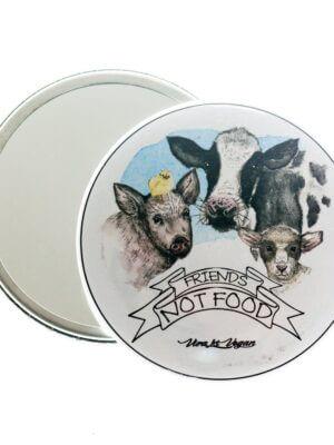 Pocket Mirror : Friends Not Food