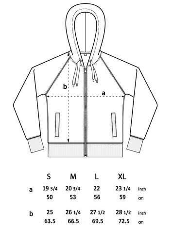zip hoodie spec