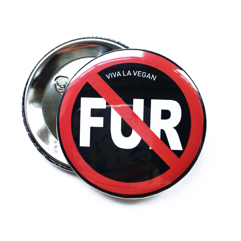 58mm Badge: Anti Fur