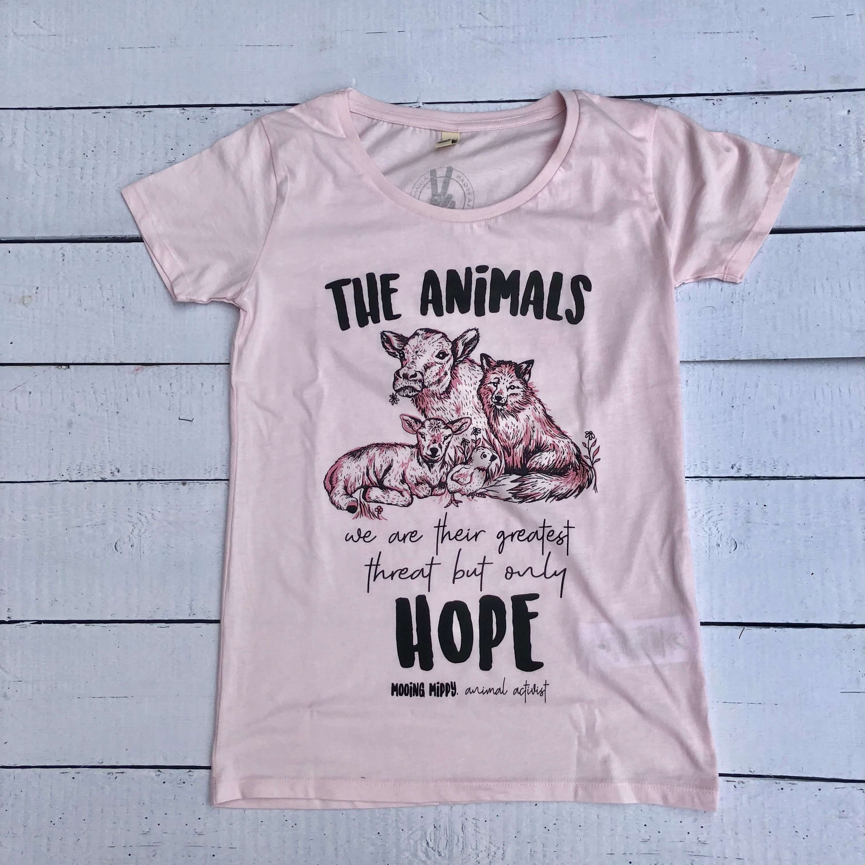 Women's Tshirt : The Animals Only Hope