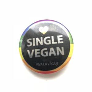 38mm Metallic Badge: Single Vegan PRIDE