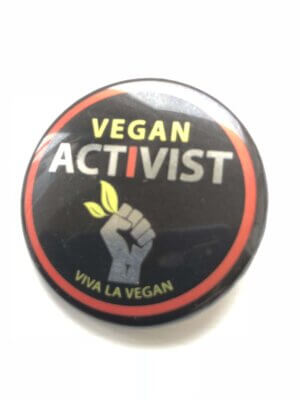 38mm Metallic Badge: Vegan Activist