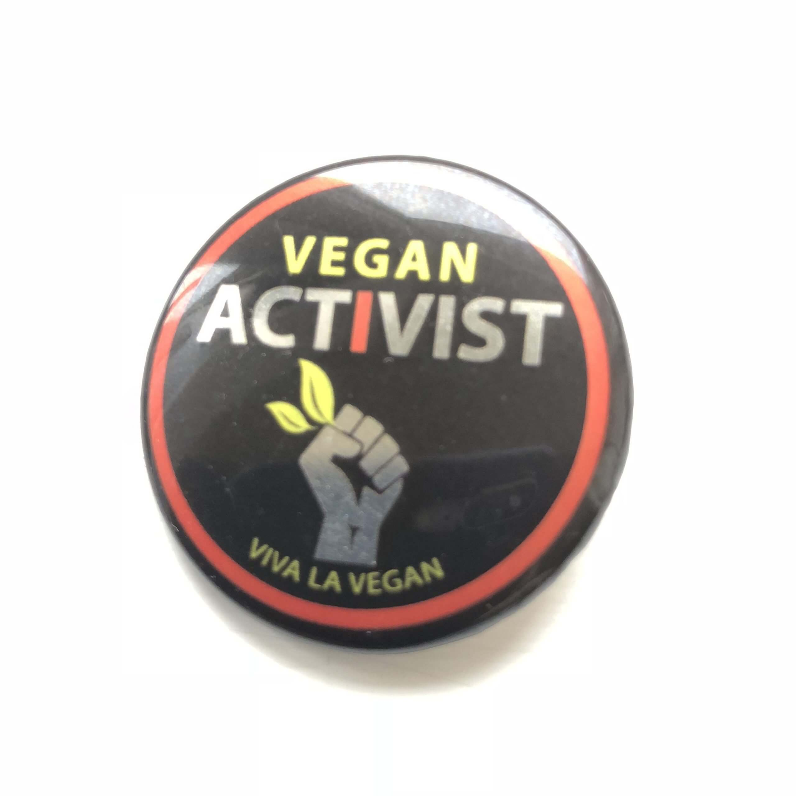 38mm Metallic Badge: Vegan Activist