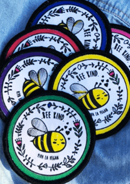 Bee Kind patch colourways