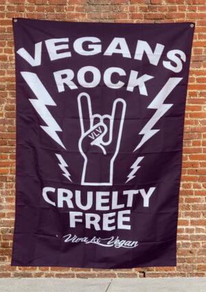 Vegan Statement Flag: Vegans Rock! by eco-ethical brand Viva La Vegan